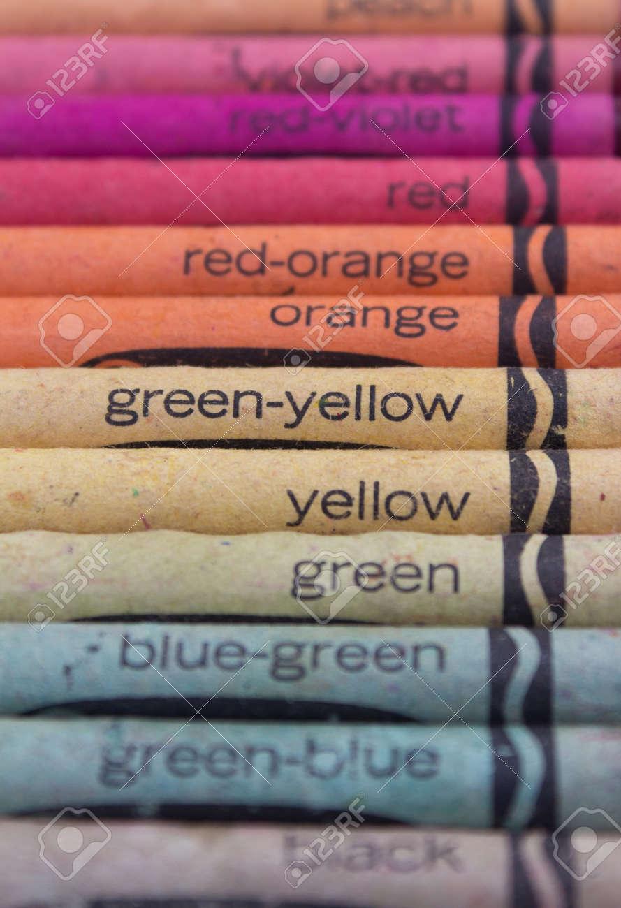 old wax crayons color