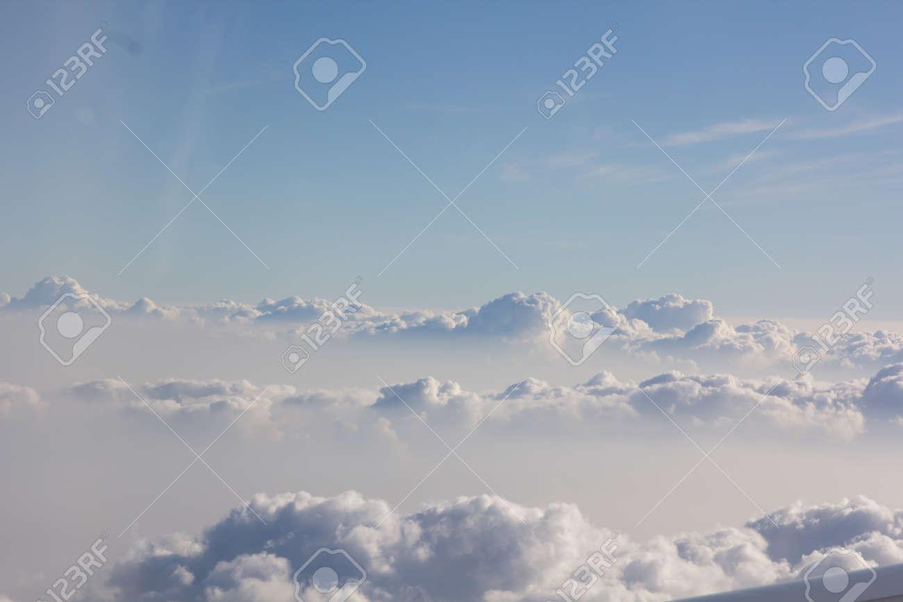 above cloud gradient blue