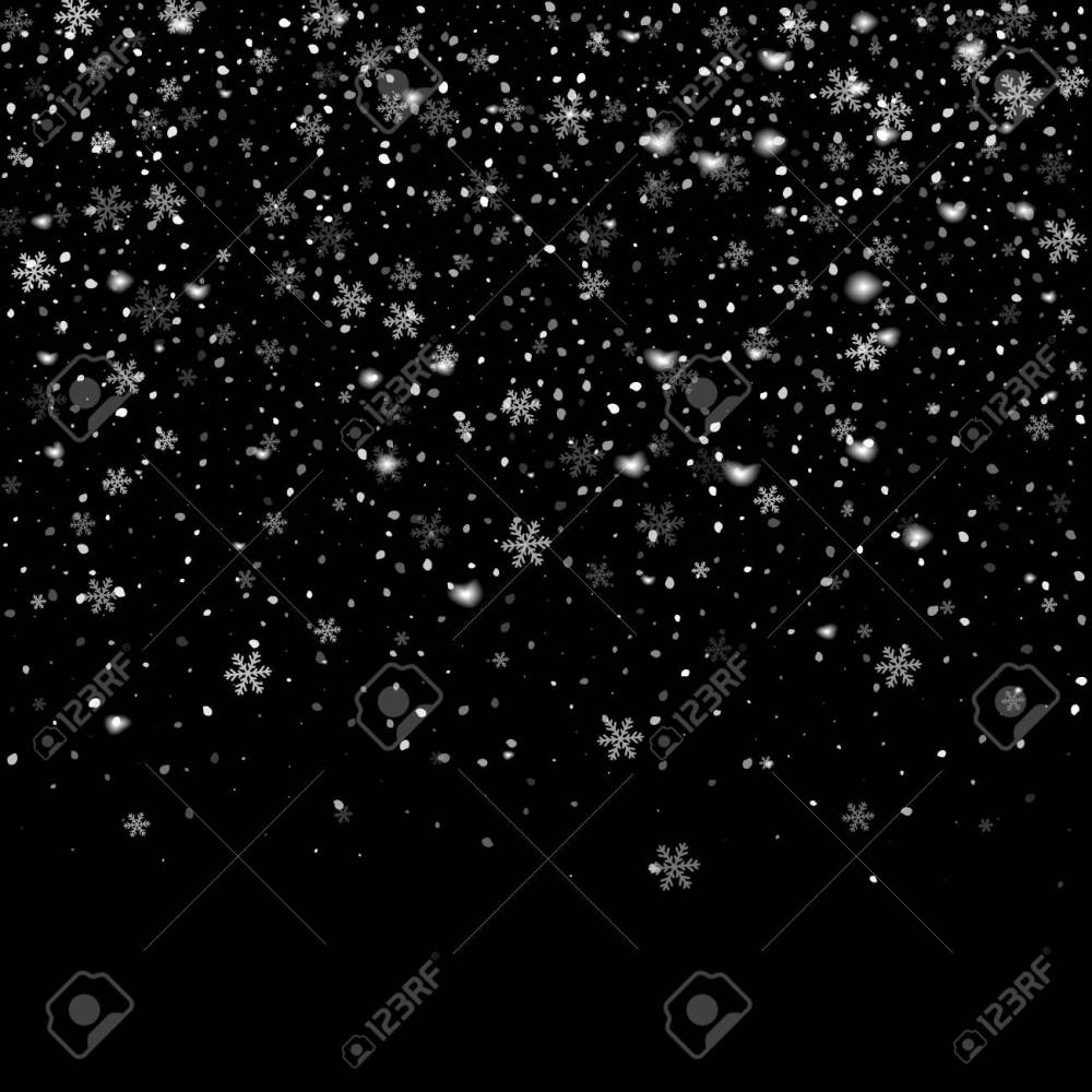medium resolution of abstract creative christmas falling snow isolated on background vector illustration clipart art for xmas holiday