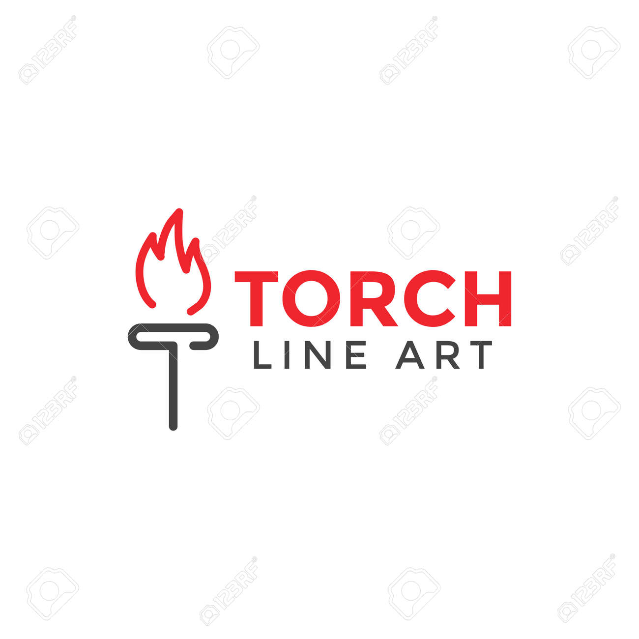 torch graphic design template