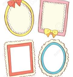 set of cute frame stock vector 15283666 [ 1041 x 1300 Pixel ]