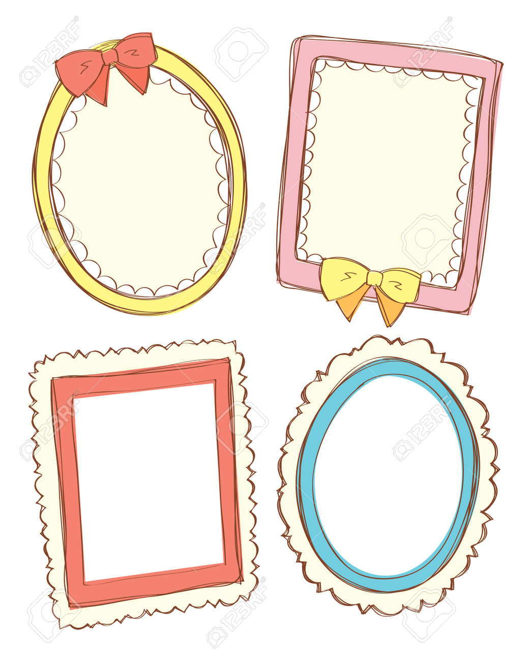 hight resolution of set of cute frame stock vector 15283666