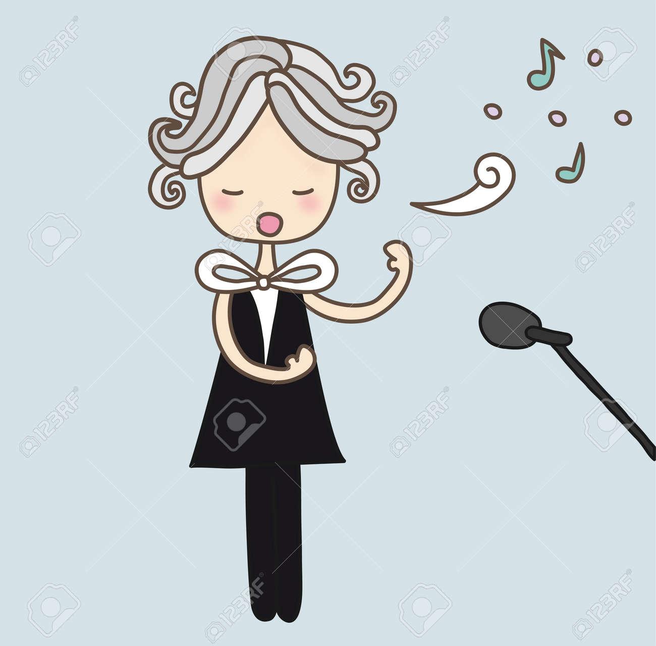 hight resolution of opera singer stock vector 10435922