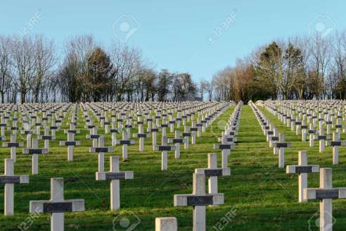 Cemetery Of French Soldiers From World War 1 In Targette Stock ...