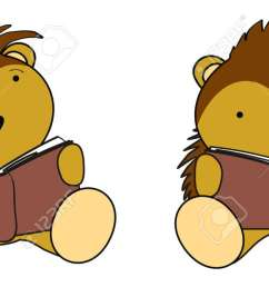 porcupine baby cartoon reading set stock vector 22163585 [ 1300 x 620 Pixel ]