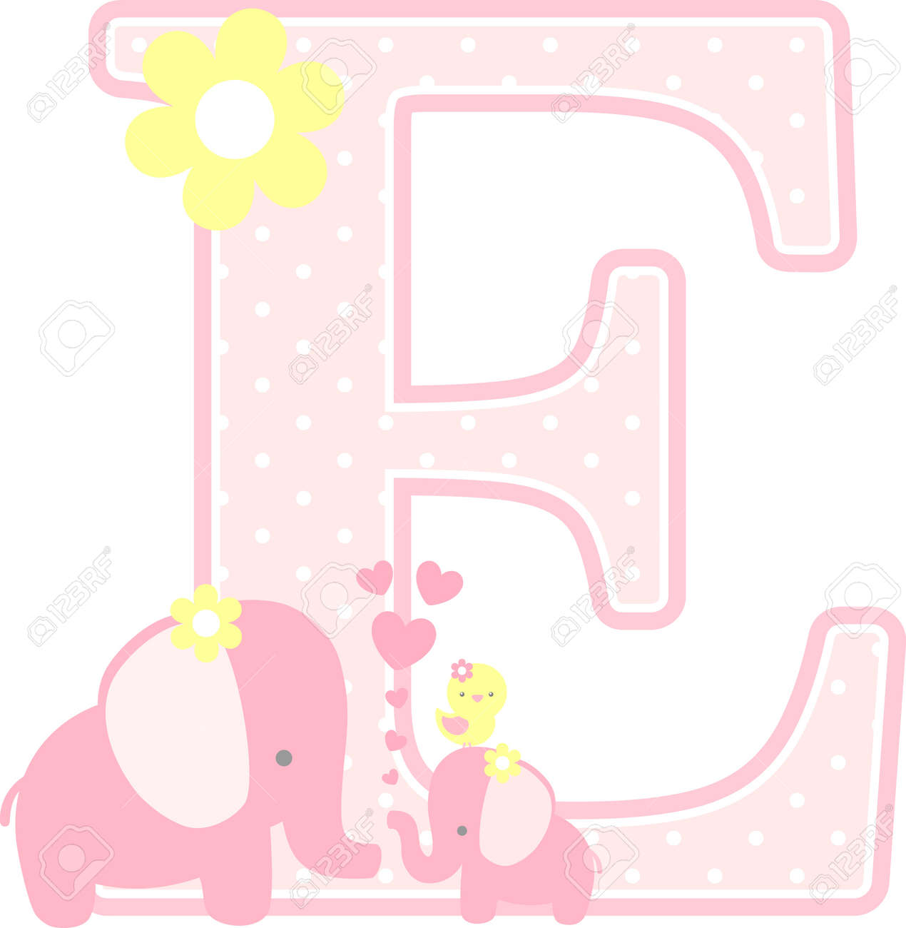 initial e with cute