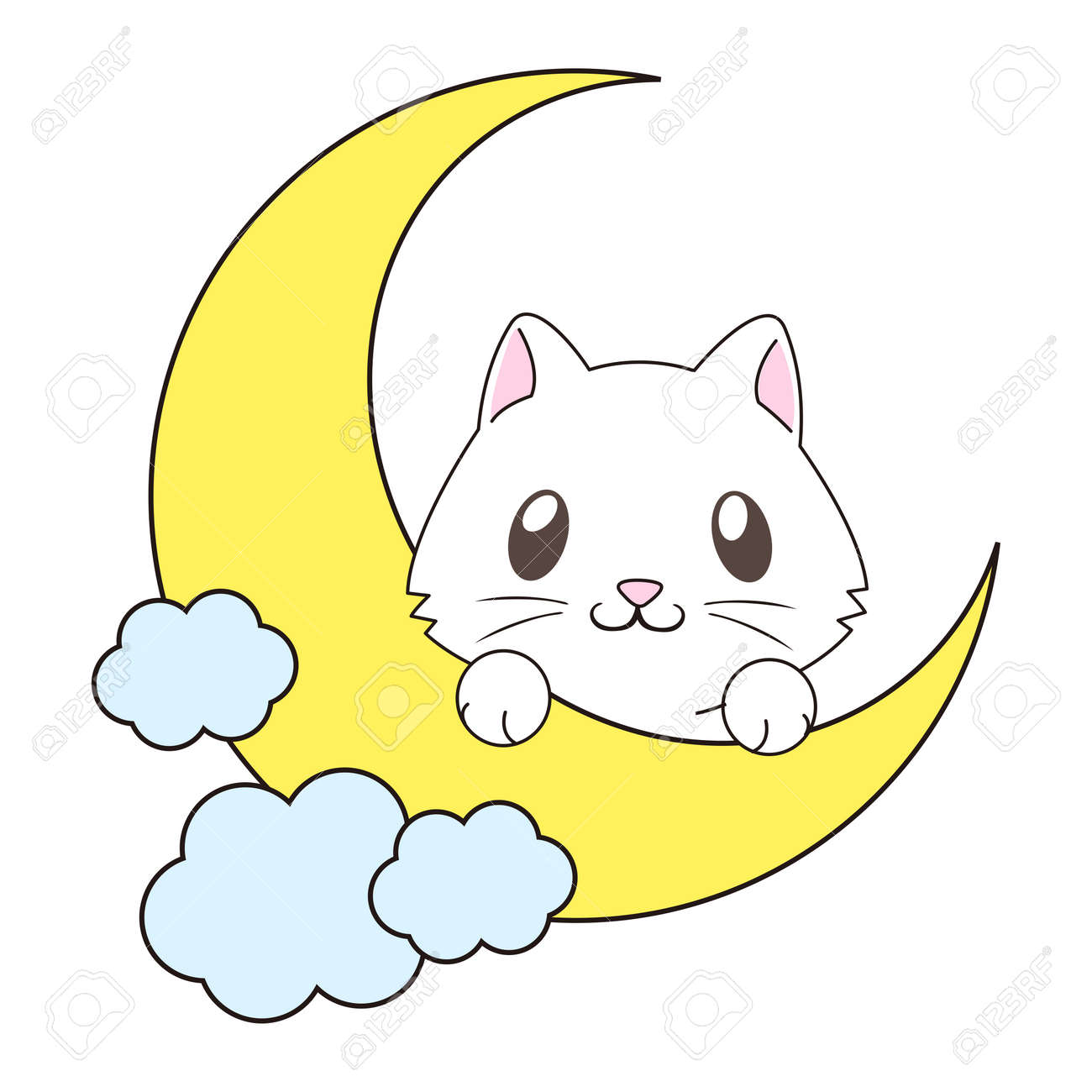 vector cute cartoon cat