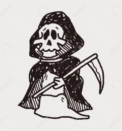 grim reaper doodle stock vector 40713247 [ 1300 x 1300 Pixel ]