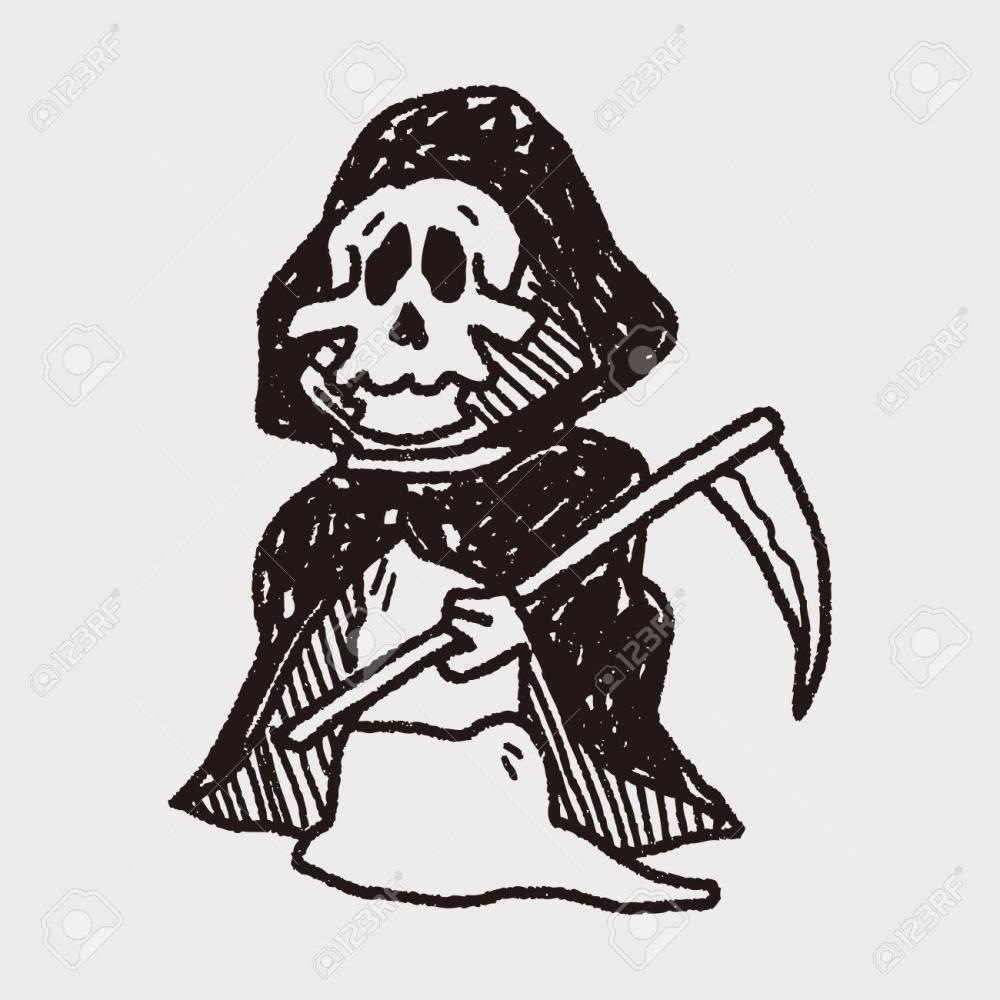 medium resolution of grim reaper doodle stock vector 40713247