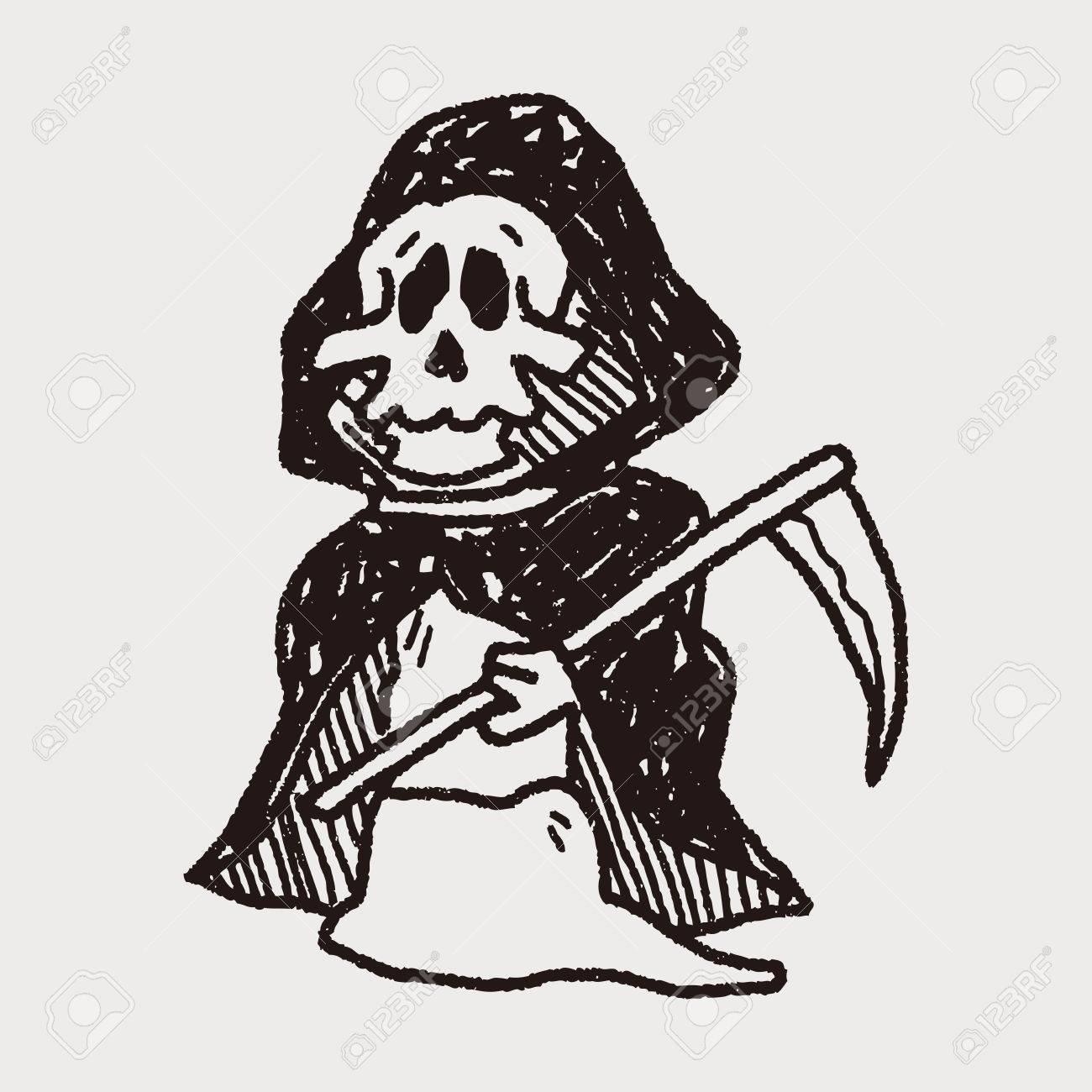 hight resolution of grim reaper doodle stock vector 40713247