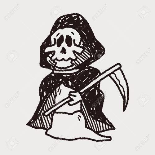 small resolution of grim reaper doodle stock vector 40713247