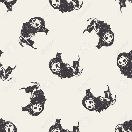 small resolution of grim reaper doodle seamless pattern background stock vector 40715518
