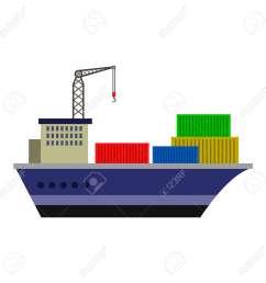 cargo ship flat icon stock vector 74181854 [ 1300 x 1300 Pixel ]
