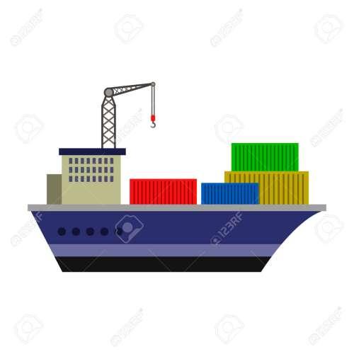 small resolution of cargo ship flat icon stock vector 74181854