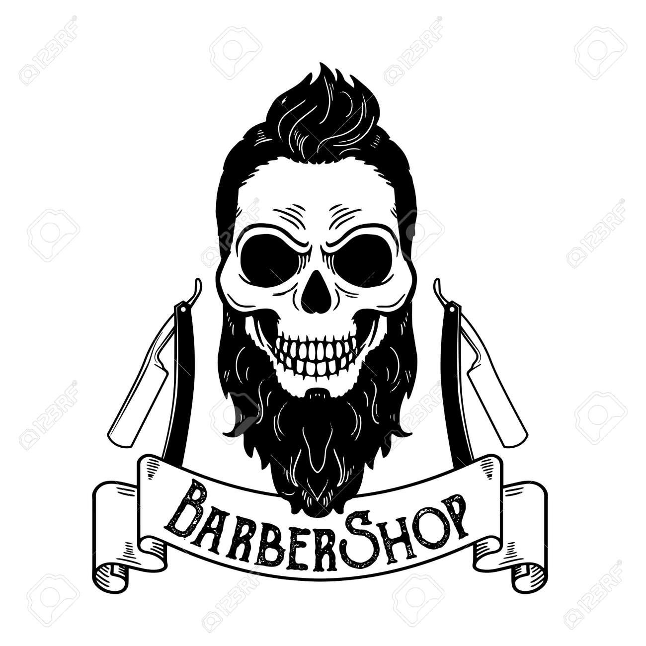 vector barbershop emblem barbershop
