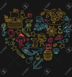 heart shape children playing pirates boys and girls in school preschool halloween party treasure [ 1300 x 1300 Pixel ]