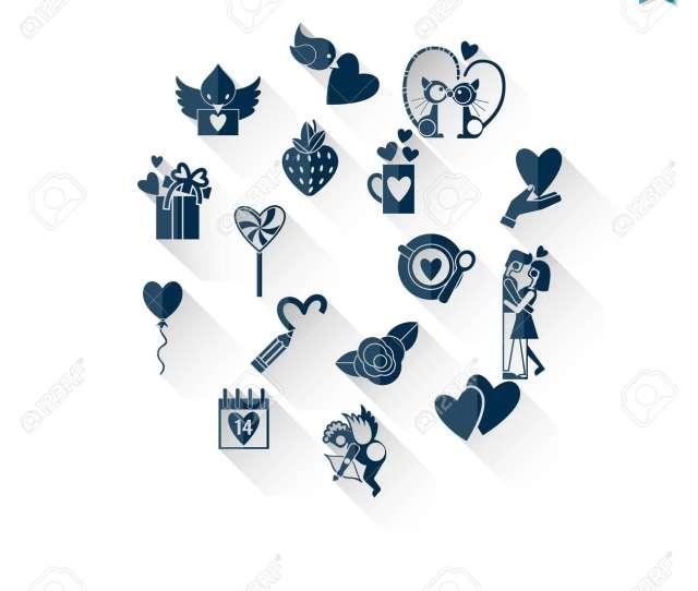 Foto De Archivo Happy Valentines Day Icons