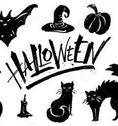 halloween clipart set stock vector 88028673 [ 1300 x 812 Pixel ]