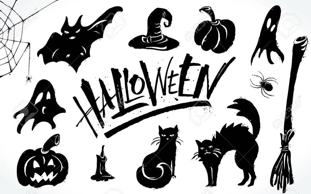 medium resolution of halloween clipart set stock vector 88028673