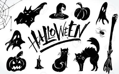 small resolution of halloween clipart set stock vector 88028673