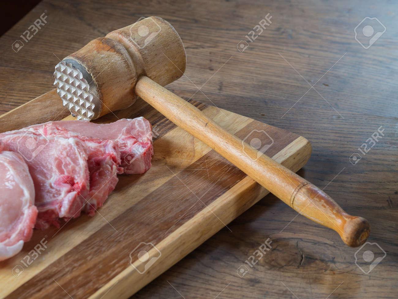 fresh raw pork chops