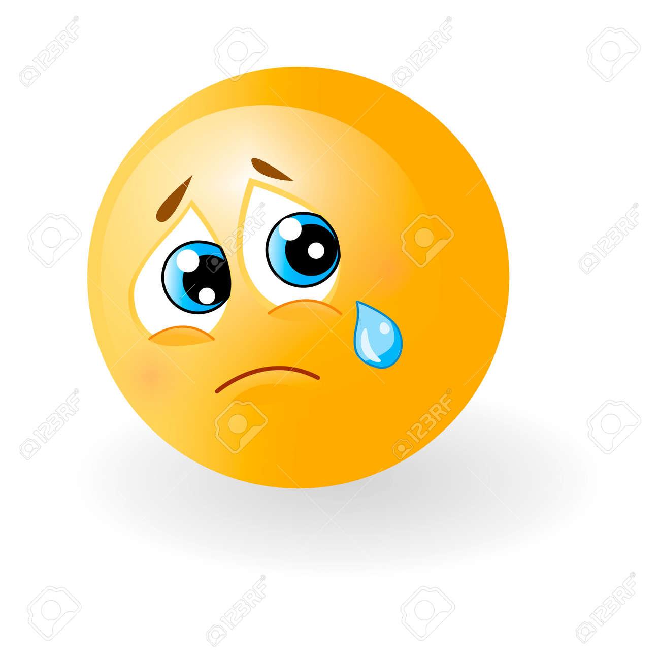 yellow cute sad emoticon