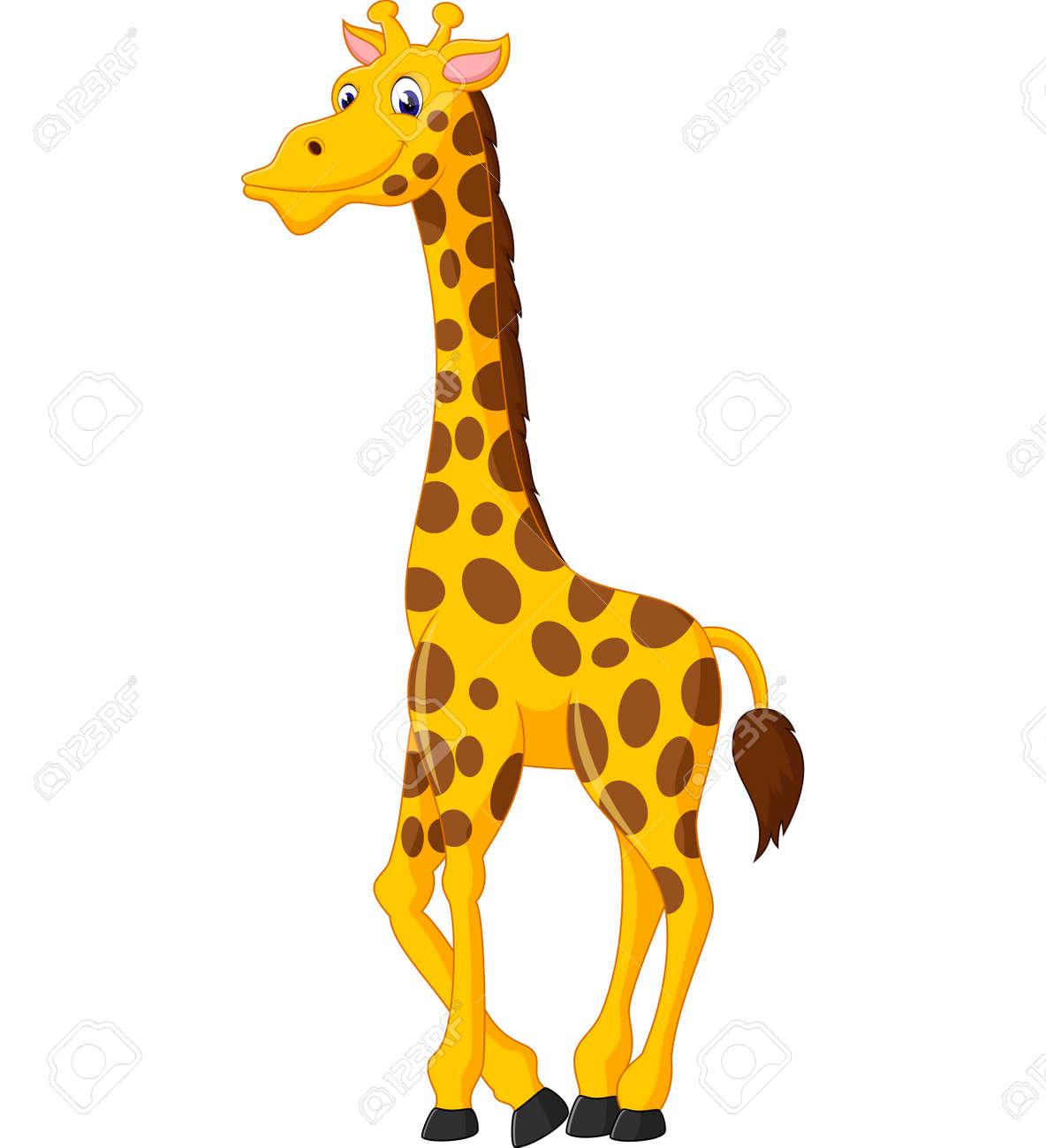 hight resolution of cute giraffe cartoon of illustration illustration