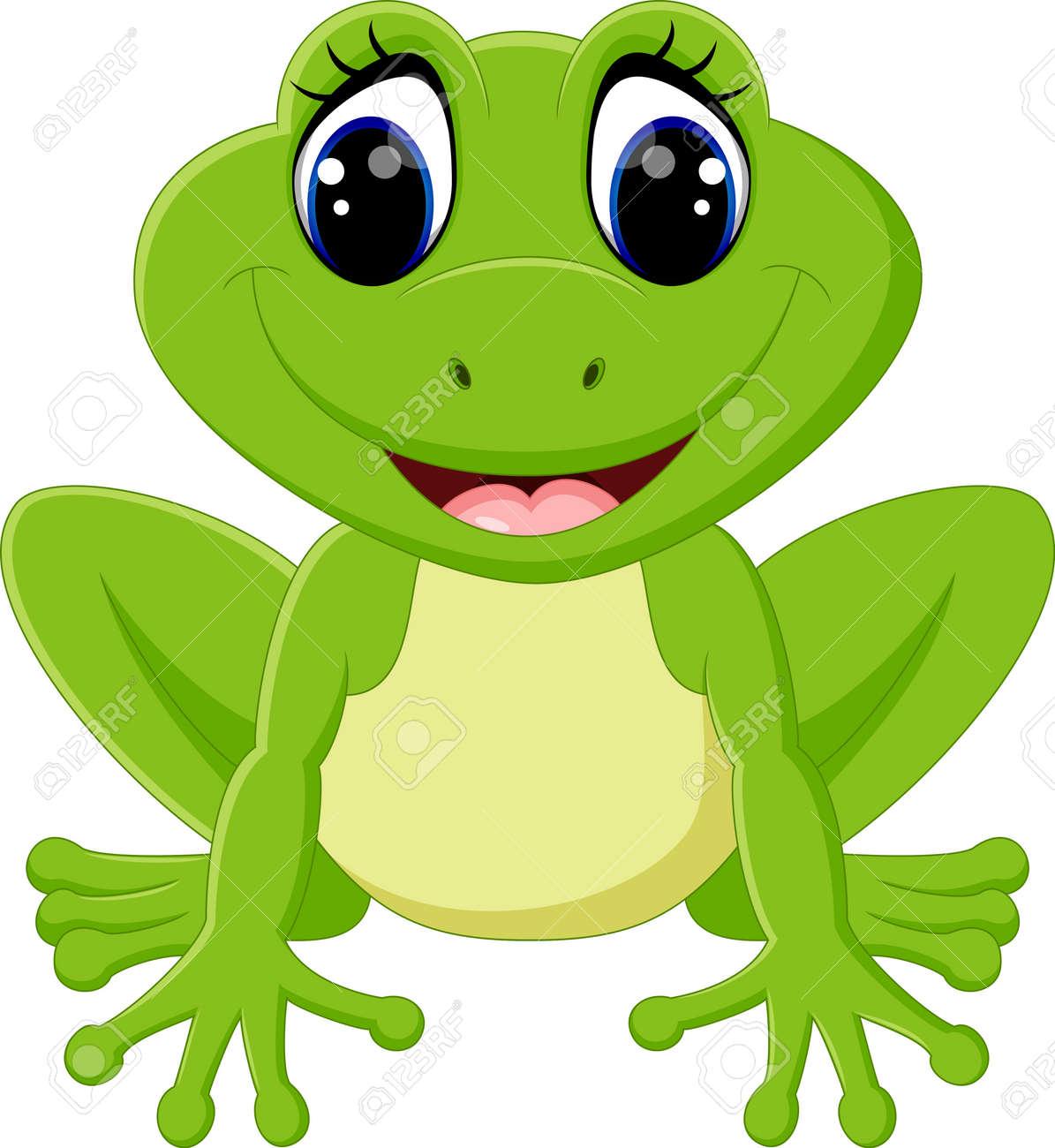 hight resolution of cute frog cartoon