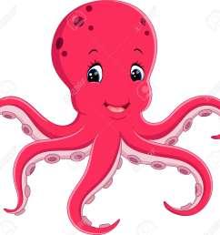 cute octopus cartoon stock vector 60915836 [ 1300 x 1232 Pixel ]