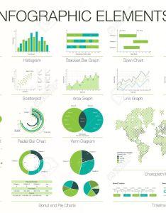 Set of graphic design elements histogram arc and venn diagram also infographics template rh rf