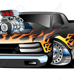 hot rod pickup truck illustration stock vector 40562507 [ 1300 x 777 Pixel ]