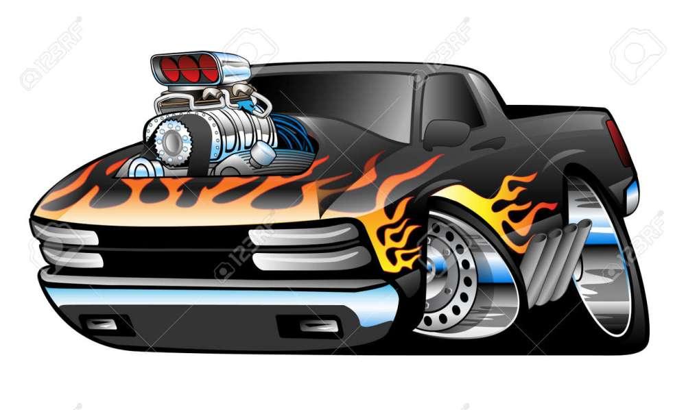 medium resolution of hot rod pickup truck illustration stock vector 40562507