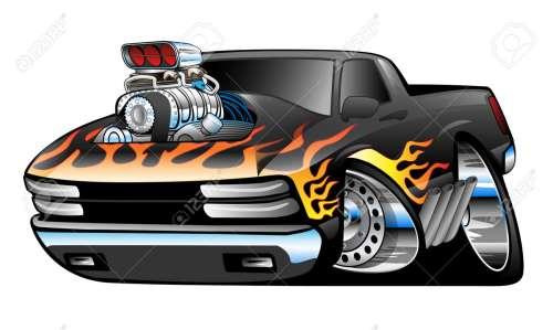 small resolution of hot rod pickup truck illustration stock vector 40562507