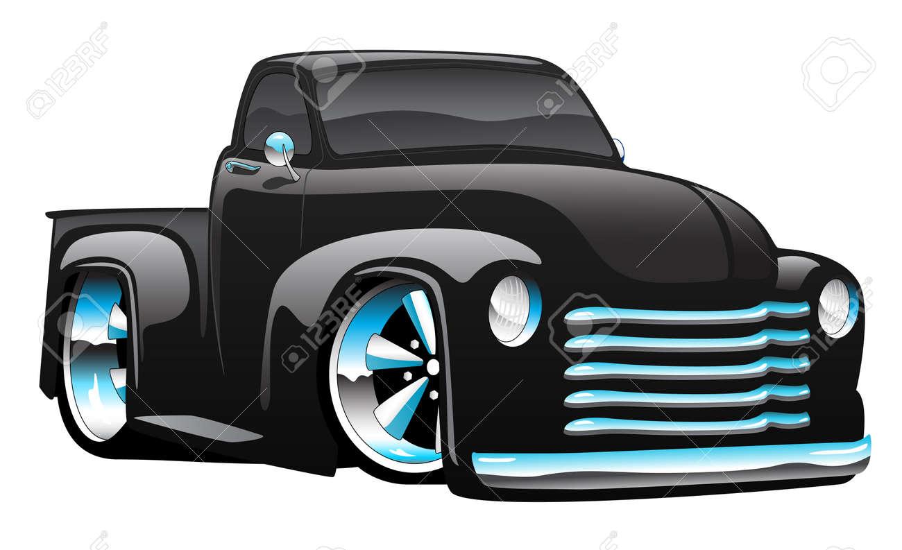 hight resolution of hot rod pickup truck illustration stock vector 82889183