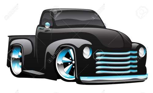 small resolution of hot rod pickup truck illustration stock vector 82889183