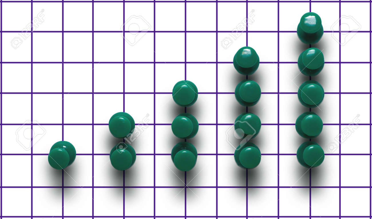 hight resolution of green drawing pin diagram on a plaid background stock photo 5909338