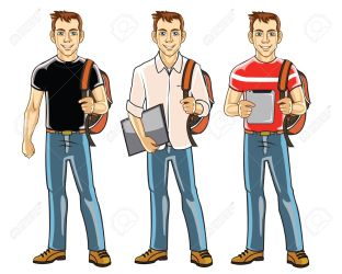 Handsome Young College Student Boy Royalty Free Cliparts Vectors And Stock Illustration Image 17292659