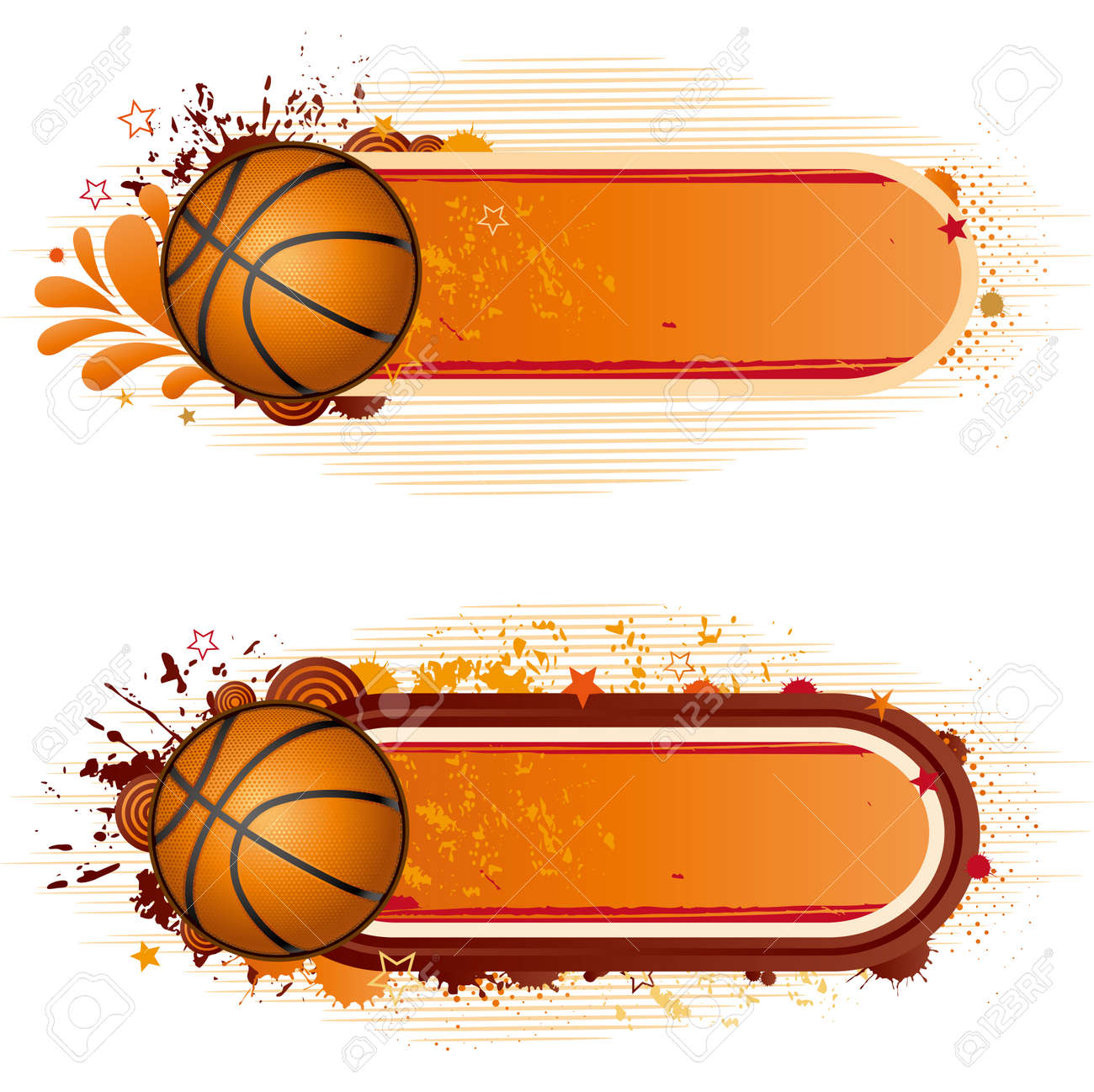 Basketball Border Templates