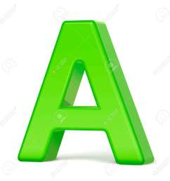 3d illustration light green letter a isolated white background stock vector 65133894 [ 1300 x 1300 Pixel ]