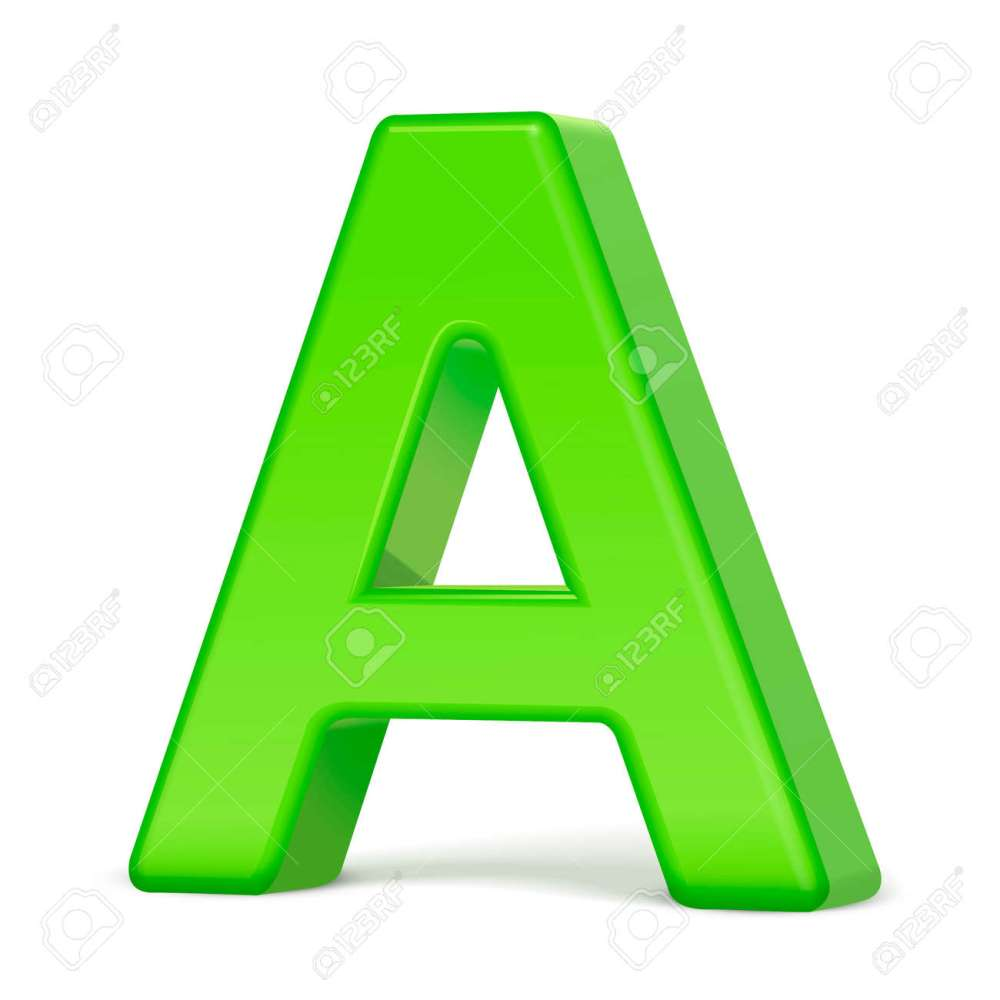 medium resolution of 3d illustration light green letter a isolated white background stock vector 65133894
