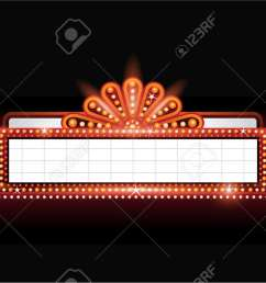 brightly theater glowing retro cinema neon sign stock vector 53756505 [ 1300 x 831 Pixel ]