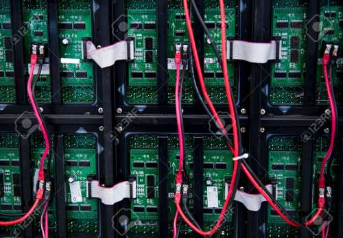small resolution of server front side showing colorful switches and wiring stock photo 23086612
