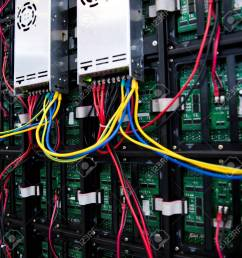 server front side showing colorful switches and wiring stock photo 23086654 [ 1300 x 1300 Pixel ]