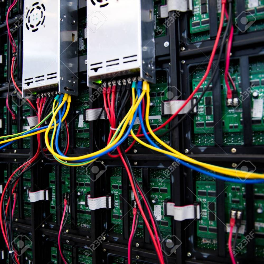 medium resolution of server front side showing colorful switches and wiring stock photo 23086654
