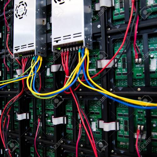 small resolution of server front side showing colorful switches and wiring stock photo 23086654