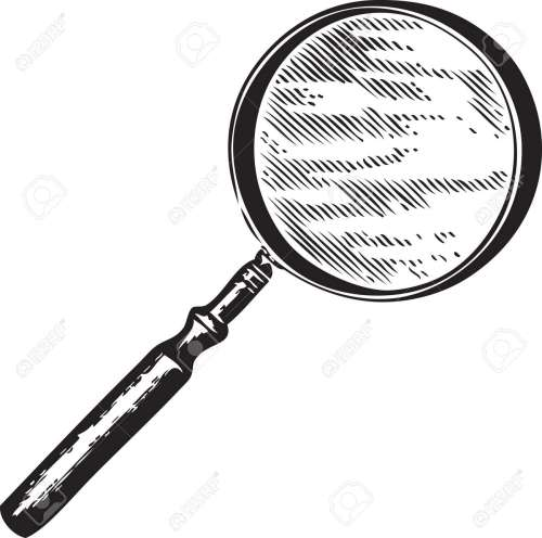 small resolution of vector vintage engraving of a magnifying glass isolated on white