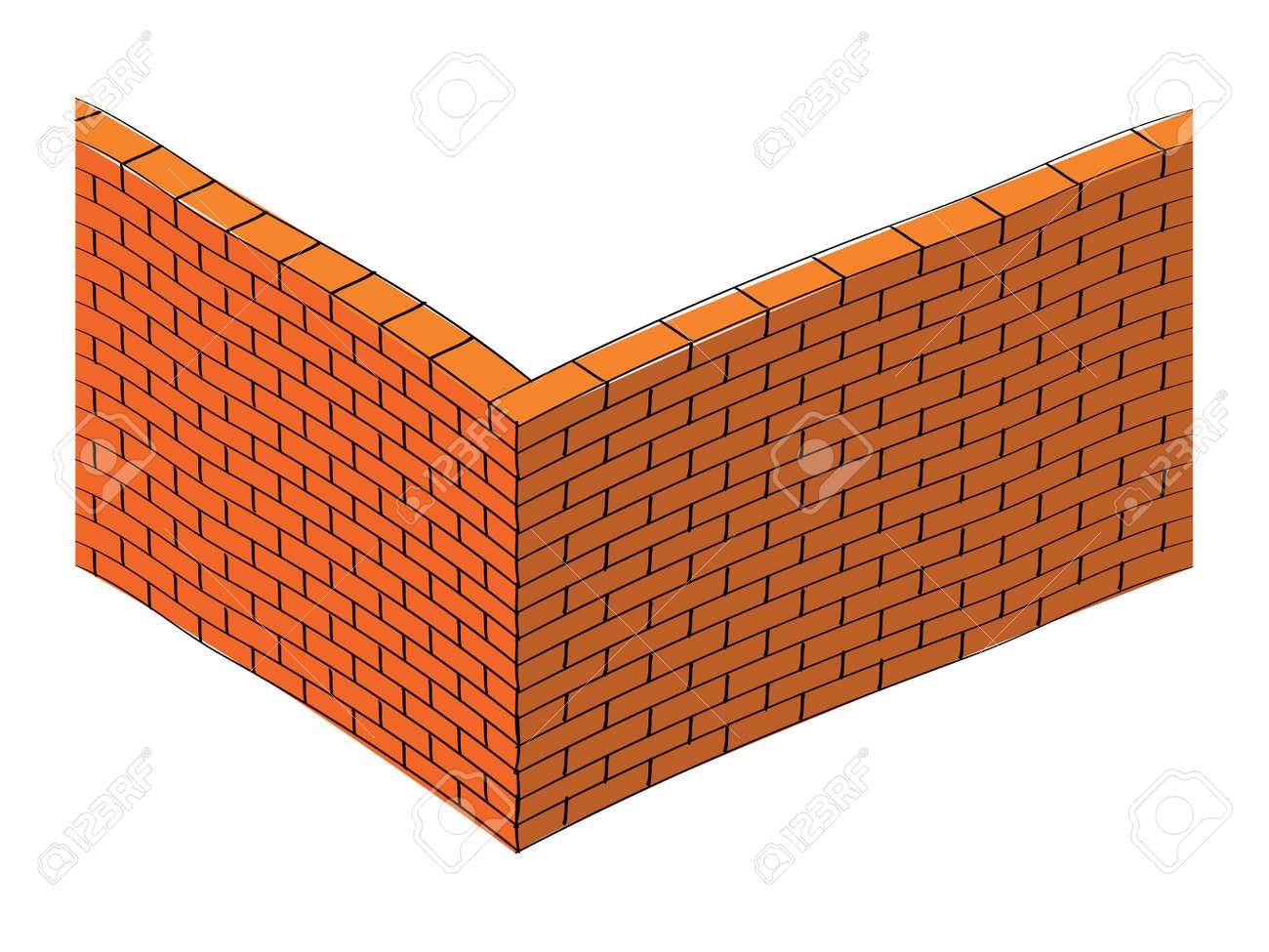 3d brick wall illustration