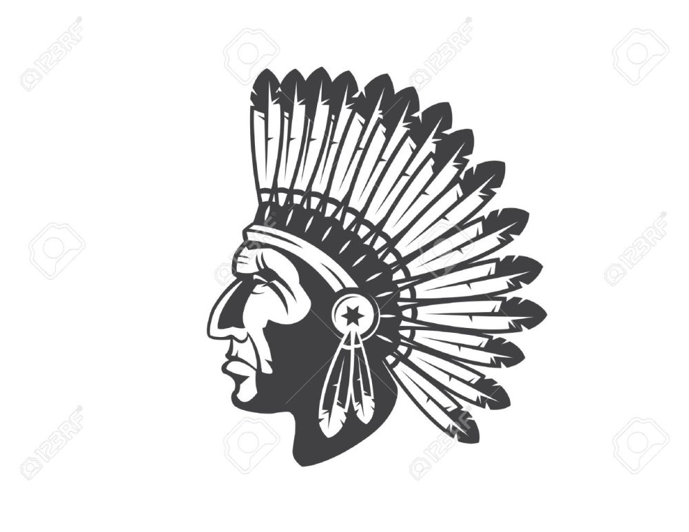medium resolution of native american indian chief headdress indian chief mascot indian tribal headdress indian headdress stock