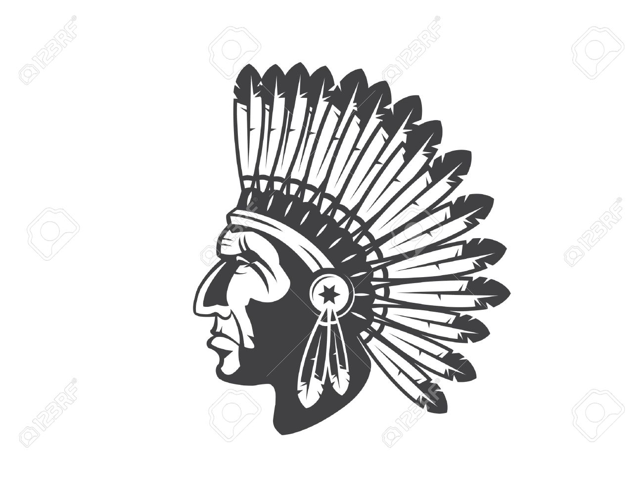 hight resolution of native american indian chief headdress indian chief mascot indian tribal headdress indian headdress stock