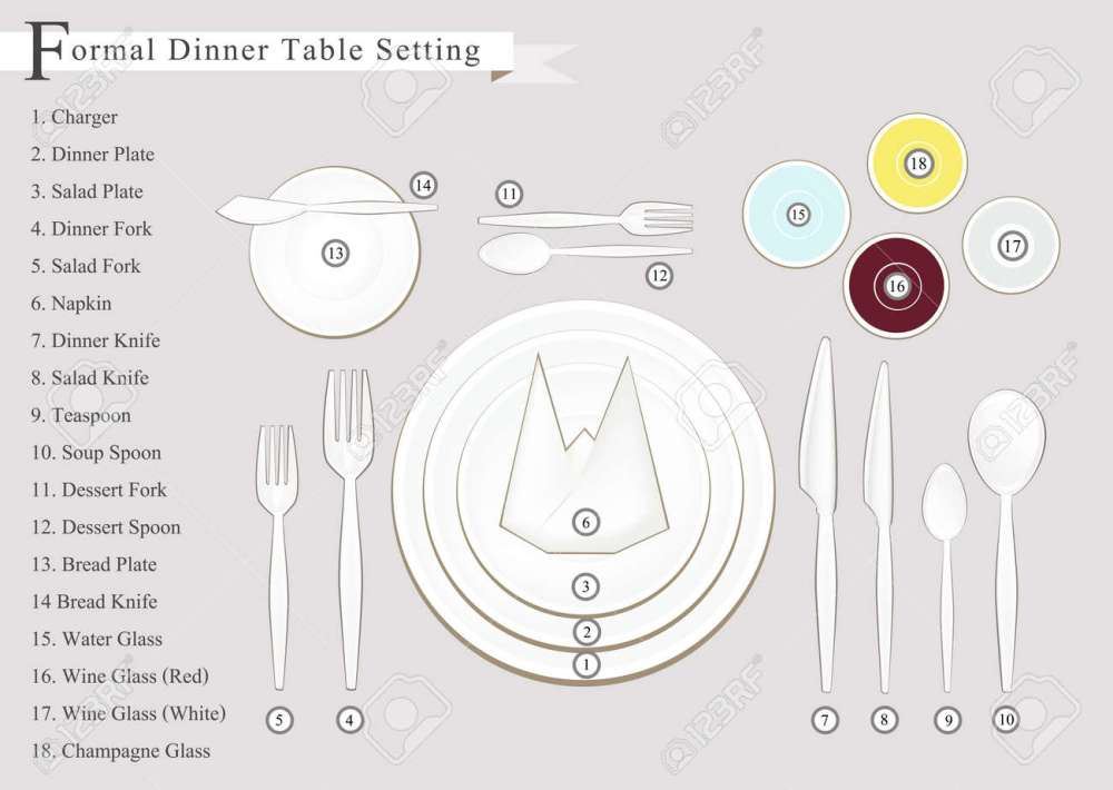 medium resolution of formal dinner business dinner or formal dinner table setting preparing for special occasions stock